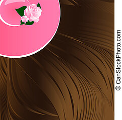 brown hair and hat - abstract background a brown hair and a...