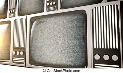 Retro television equipment noise di - 3D render of Retro...