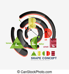 Abstract circle geometric infographic diagram, banner option...