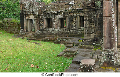 Preah Khan - part of a temple in Angkor, Cambodia named...
