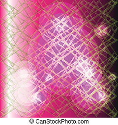 Vector pink background with grid