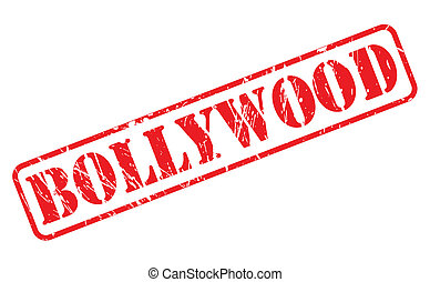 Bollywood red stamp text on white