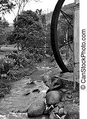 old mill wheel - Wheel former flour mill in Brazil