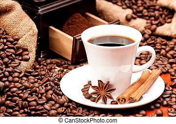 café, amoladora