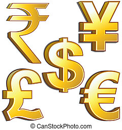 Curency Symbols - Popular Currency Sign set.very useful...