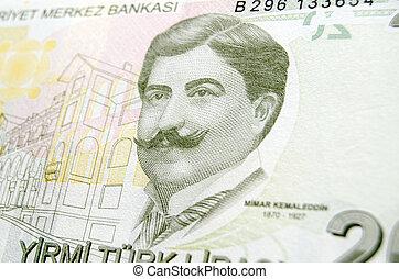 Mimar Ahmet Kemaleddin Bey on Turki - A 20 Lira banknote...
