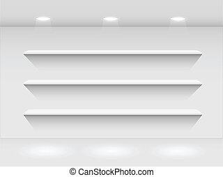 Shelves in Room, Illustration
