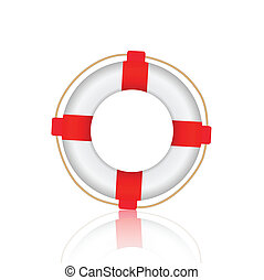 Life Preserver - Illustration of a life preserver isolated...