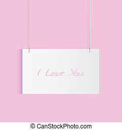 I Love You Hanging Card