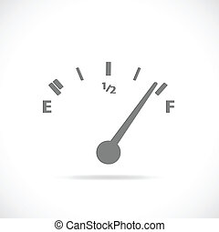 Gas Gage - Illustration of a gase gage silhouette isolated...