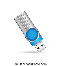 USB Flash Drive - Illustration of a USB flash drive isolated...