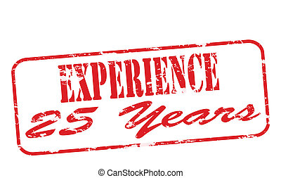 Experience twenty five years - Rubber stamp with text...