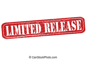 Limited release - Rubber stamp with text limited release...