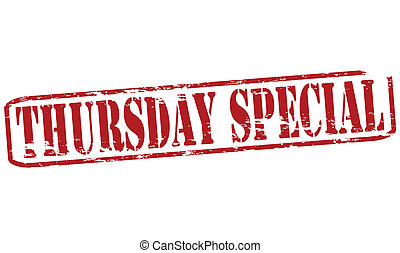 Thursday special - Rubber stamp with text thursday special...