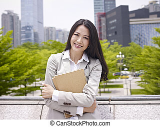 young businesswoman - portrait of a young asian busineswoman...