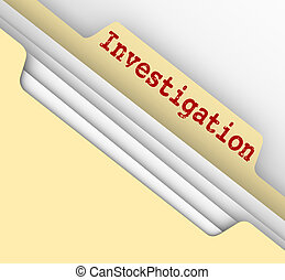 Investigation Manila Folder Research Findings Paper File...