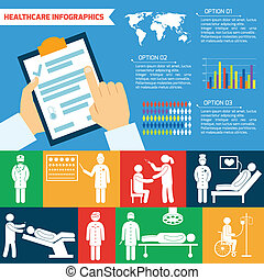 Medical infographic set - Medical healthcare infographic...
