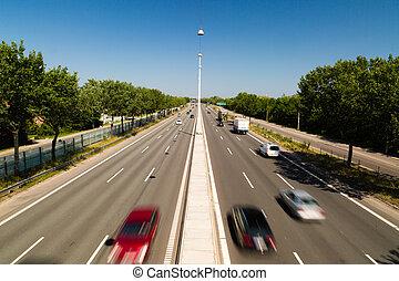 Light traffic - Quiet summer traffic on the main highway...