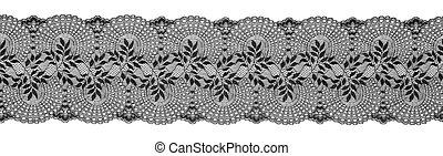 Embroidered Lace Trim Ribbon, Needlework Border, Embroidly