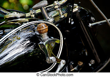 motorcycle gas tank shifter - Detail of motorcycle gas tank...