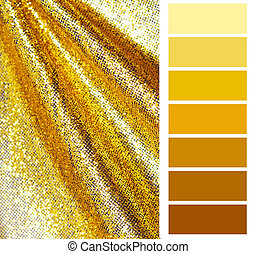 golden color chart selection for interior