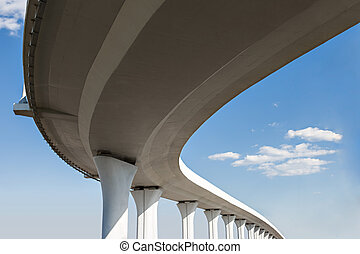 Freeway span - Underside of an elevated roads
