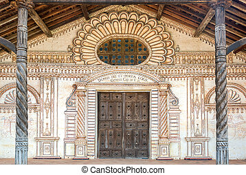 San Javier Church Facade - Facade of the UNESCO World...