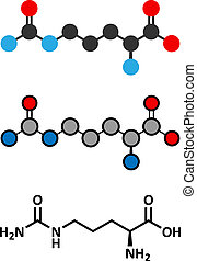 Citrulline amino acid molecule Present in some athletic...
