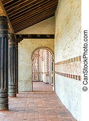 San Javier Church Corridor