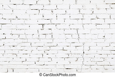Old brick wall with white bricks