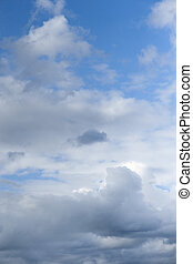 fluffy clouds on blue sky - Beautiful white fluffy clouds on...