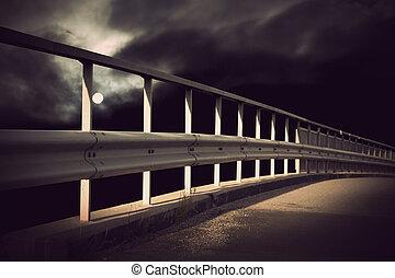 Bridge in moonlight
