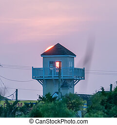 sun rises over cape hatteras lanscapes in north carolina