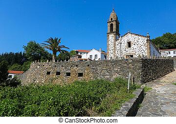 San Andres de Teixido - Church of San Andres de Teixido in...