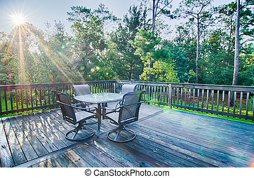 beach house porch at sunrise - beach house porch deck and...