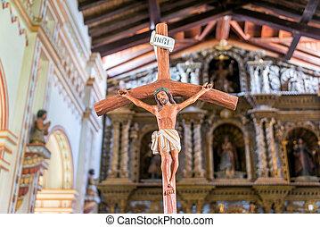 Jesus on the Cross in San Ramon, Bolivia