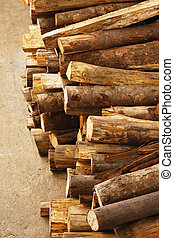 firewood - Photo of Stack of chopped firewood