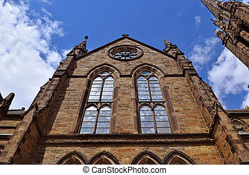 Historic Church in Downtown Boston - An exterior view of a...