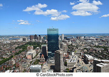 Aerial View of Boston, Massachusett - An aerial view of...
