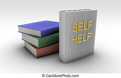 Self Help Books On a White Background