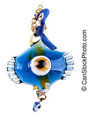 Turkish eye amulet - a turkish eye talisman isolated over a...
