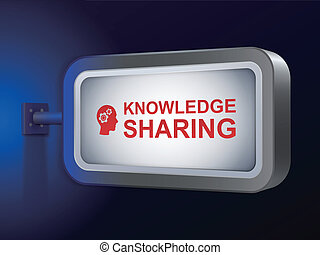 knowledge sharing words on billboard
