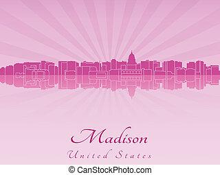 Madison skyline in purple radiant orchid - Madison skyline...