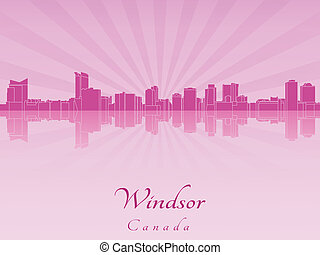 Windsor skyline in purple radiant orchid - Windsor skyline...