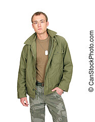 soldier guy - one fit attractive soldier in green and brown...