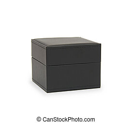 black gift box isolated on white