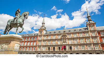 Plaza Mayor in Madrid Panorama