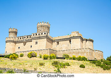Castle of Mendoza near Madrid Spain