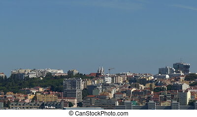 Panoramic View on the Lisbon, Portugal