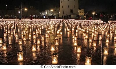 candles on the cathedral square